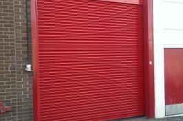red roller shutter