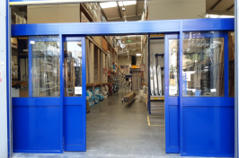 automatic doors to warehouse