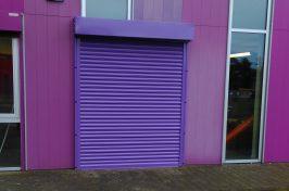 purple roller shutter
